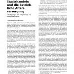 Dr. Peter Meides: Staatshandeln und die betriebliche Altersversorgung.