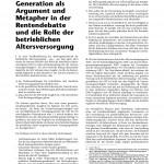 Dr. Peter Meides: Rentendebatte - die Rolle der betrieblichen Altersversorgung.