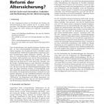 Dr. Peter Meides: Paradigmatische Reform der Alterssicherung.