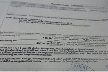 ULAK Bau, SOKA-Bau Mahnbescheid zum Mindestbeitrag 2015 Berufsbildung (pm160511)