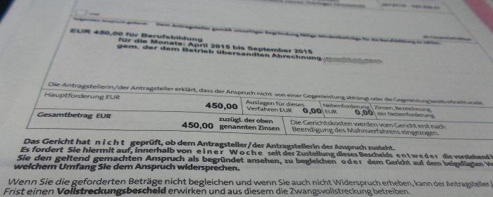 Soka Bau Versendet Jetzt Mahnbescheid Zum Mindestbeitrag 2015