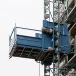 Bauaufzug, Montage von Bauaufzügen