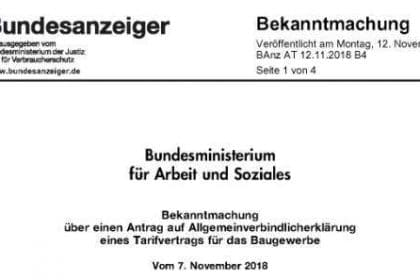SOKA-Bau Tarifvertrag 2019, Sozialkassen-Tarifvertrag