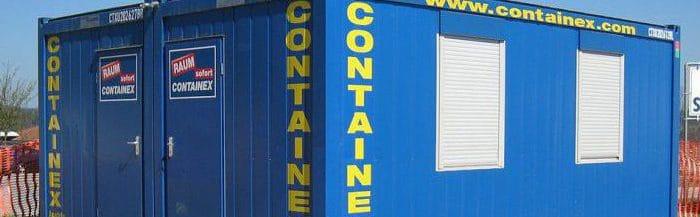 Baucontainer, Soka-Bau, Baustellen-Container